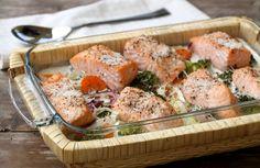 Hei! Kvardagen er i gang og middagane skal på bordet etter en lang dag på jobb. Da er det heilt topp med såkalte kvardagsmiddager som både er raske, enkle, næringsrike og mettande. Laks i form med grønnsaker og fløte er en slik middag, den er så simpel, men samtidig veldig god. Muligheten for varisjon i … Sheet Pan, Fish Recipes, Form, Food And Drink, Meat, Chicken, Dinners, Swimming, Springform Pan