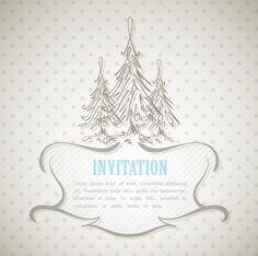 Winter design elements vector background 05