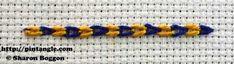 Take a Stitch Tuesday | tutorial of magic chain or checkered chain stitch