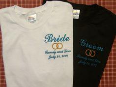 Bride Groom T Shirts Monogrammed on Etsy, $22.99