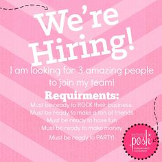 I am looking for people to join my team. I want people who want to have fun and who love pampering! Perfectly Posh, Mary Kay, Welcome To The Team, Posh Products, Free Products, Fun Party Games, Party Ideas, Black Skin Care, Posh Party