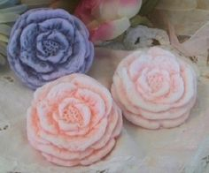 Peony Spring Flower Silicone Soap Mold Votive Candle by grandhorse, $24.00