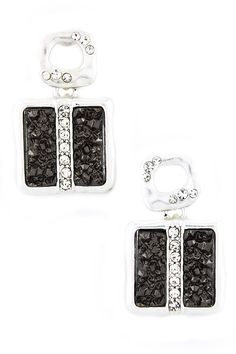 Square Druzy Present Earrings