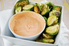 Roasted Brussels Sprouts with Sriracha Aioli Recipe -3pp