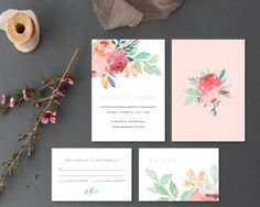 Printable Wedding Invitation Set  Wedding Invitation  RSVP