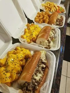 Philly cheese steak sub and cheese tater tots