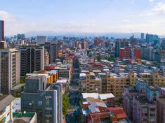 Aerial view of Taipei Downtown, Taiwan. Financial district and b - Stock , #Aff, #Taipei, #Downtown, #Aerial, #view #AD High Rise Building, Urban City, Vector Hand, Taipei, Aerial View, Birds In Flight, Hand Drawn, Skyscraper, Tourism