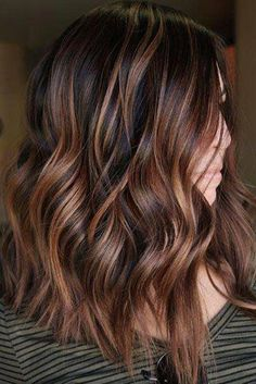 45 Suggestions For Dark Brown Hair Color hair color ideas for dark brown hair - Hair Color Ideas Red Highlights In Brown Hair, Red Brown Hair Color, Brown Hair Shades, Brown Balayage, Brown Blonde Hair, Ombre Hair Color, Light Brown Hair, Hair Color Balayage, Color Red