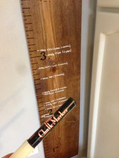 Suburbs Mama: Wooden Growth Chart DIY