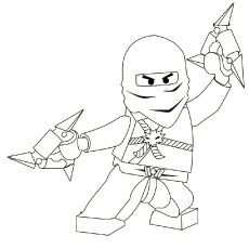 coloring page with cole from the popular lego ninjago series drawn sitting inside a lego racer. Black Bedroom Furniture Sets. Home Design Ideas