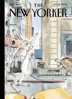 """The New Yorker - Monday, September 22, 2008 - Issue # 4278 - Vol. 84 - N° 29 - Cover """"The Race Is On"""" by Barry Blitt"""