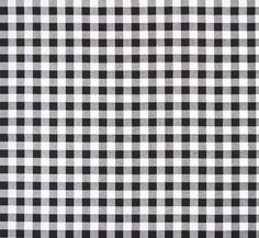 Black & White Gingham Check Fabric by the Yard Cotton Plaid