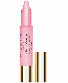 Clarins Lip Balm Crayon in 01. This goes on clear and brings out a beautiful, natural pink in the lips. Bonus, the smell is amazing !