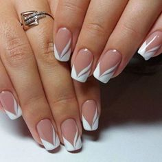 french nails nude-quadratisch-spitze-weiß-dreieckig-lang-elegant-brautnägel-ri… french nails nude-square-lace-white-triangular-long-elegant-bridal-nails-ring Nude nails always look COFFIN NAIL ART Nude nail ideas that a French Manicure Nails, French Manicure Designs, Elegant Nail Designs, French Tip Nails, Manicure Ideas, Spa Manicure, Pedicure, White French Nails, French Manicure With Glitter