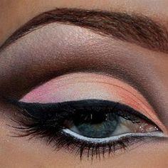 coral eye shadow