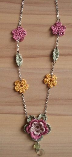 Chrochet Flower Necklace Inspiracion