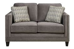 Emerald Home U3139A0103 Carlton Loveseat with 2 Pillows Griffin Charcoal ** Read more  at the image link.