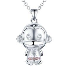 Cheap Hot mono colgante, collar de plata con circón joyería de moda hermoso…