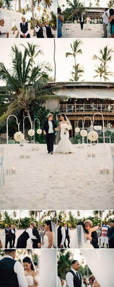 Walkway- candles/fisherman hook Jellyfish Punta Cana wedding // Desiree + Courtney