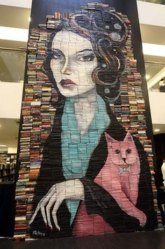 Mike Stilkey's book sculptures: Painting visual narratives over the written word | Lifestyle | GMA News Online