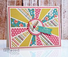 Hey There Sunshine Card by Wanda Guess #Cardmaking, #JustBecause, #Cuttingplates