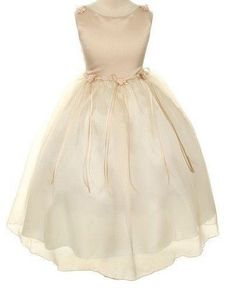 24.93$  Watch here - http://viskx.justgood.pw/vig/item.php?t=njgzbqw14845 - Champagne Rose Flower Pearl Flowers Girls Dresses Pageant Prom Wedding Ceremony