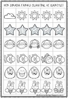 Didem Ögretmenin Etkinlikleri: AYNI-FARKLI Preschool Learning Activities, Preschool Worksheets, Infant Activities, Dots Game, Hidden Pictures, English Classroom, Autism Classroom, Toddler Fun, Pre School