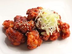 Ultra-crisp fried cauliflower Korean-style, served with a sweet and hot chili sauce or a sweet soy glaze.