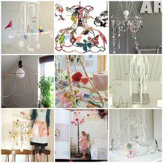 FollyandGlee: Neon Pink Wire Ghost Lampshades