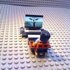 """""""One second porks!!! I'm playing Skyrim!"""" #Lego #Legopic #legostagram #legosigfig #legominifigures #legofan #legocentral #legomania #legos #Skyrim #bethesda #photoshop #legophotography #legography #deadra #legography #brickcentral by gamerbricks"""