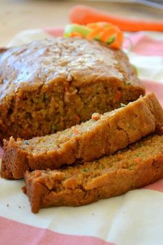 Zucchini carrot bread gluten free easy spices amazing great recipe