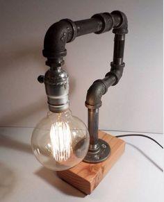 antique brass microscope lamp vintage lighting geek nerd home decor