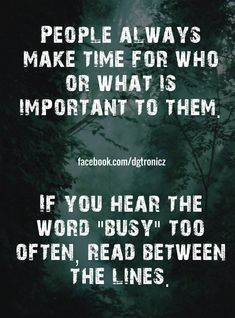 """So many people are """"busy"""""""