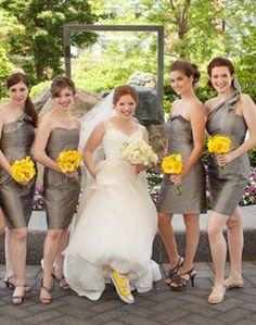 WeddingChannel Galleries: Silver Bridesmaid Dresses