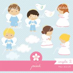 Sweet Angels Digital Clipart on Etsy, $53.76