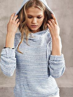 So soft and cozy, you'll never want to take it off. | Victoria's Secret Waffle-knit Hoodie