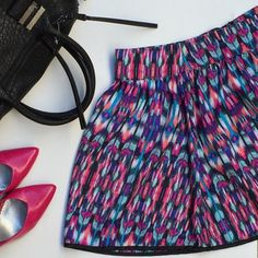 NWOT Fun & Fabulous High-waisted Skater Skirt This super girly skirt is too cute to pass up. Never been worn. ✨The fabulous French Connection bag is listed in my closet ✨I discount bundles  Charlotte Russe Skirts Circle & Skater