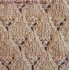 Lace basket knitting stitches