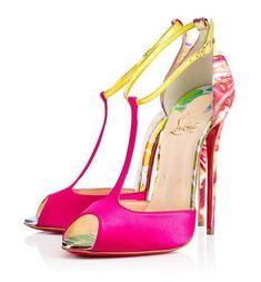 Christian Louboutin Spring/Summer 2015: Senora t-strap open-toe pumps #manoloblahnikheelsspringsummer