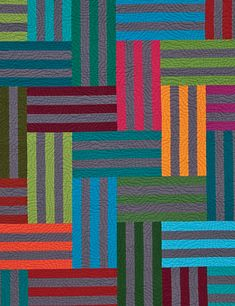 Stripes with wonderful quilting. Great colour study.