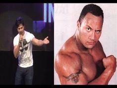 Varun Dhawan does WWE wrestler THE ROCK's MIMICRY.