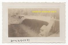 Antique Vintage Photograph~Frozen Reservoir/Dam~Winter~Snow~Ice~January 1947