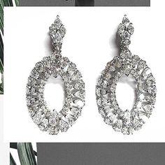 Earrings – Page 5 – Modern Jewelry Diamond Tennis Necklace, Diamond Jewelry, Diamond Earrings, Women's Earrings, Crochet Earrings, Wow 2, Diamond Dreams, Jewelry Boards, Fine Jewelry