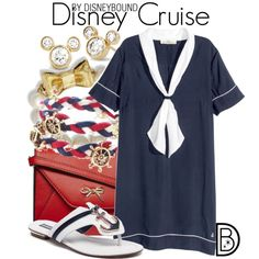 Disney Cruise by leslieakay on Polyvore featuring H&M, Dorothy Perkins, Kate Spade, disney, disneybound and disneycharacter