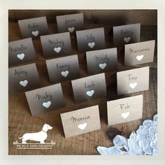 Getting married? Let us personalize place cards for your special day! Choose your card style, paper color, and font. Diy Wedding, Rustic Wedding, Program, Dog Design, Your Cards, Special Day, Getting Married, Gift Tags, Place Cards