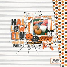 Pumpkin Patch 2017 - Scrapbook.com Baby Scrapbook, Scrapbook Paper Crafts, Scrapbook Albums, Scrapbook Cards, Disney Scrapbook, Paper Crafting, Scrapbook Layout Sketches, Scrapbooking Layouts, Digital Scrapbooking
