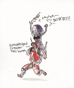 Tali riding a GethPrime