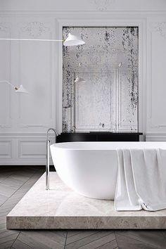 #badkamer #stijlvol #visgraat #hout-look