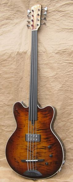 Fretless 8-string bass.