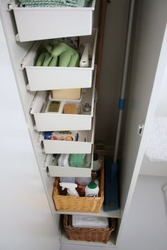 Benita Larsson's broom closet storage #storage #laundry #cleaningsupplies